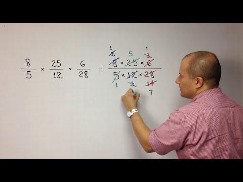 Multiplicación de números fraccionarios