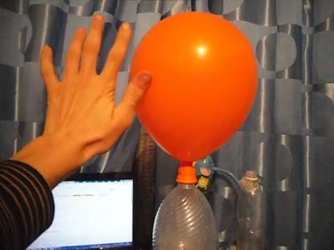 Как накачать шарики в домашних условиях видео