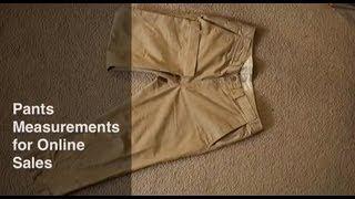 Quick Tutorial: Pants Measurements for Online Sales