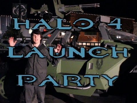 Halo 4 Launch Party - The Real Master Chief. Life Sized Warthog. & MLG Pros