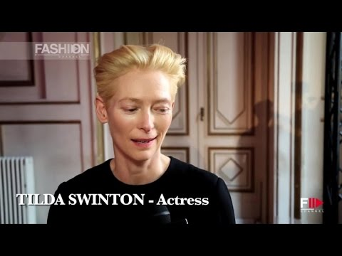 PITTI 87 Cloakroom TILDA SWINTON Performance & Interview by Fashion Channel
