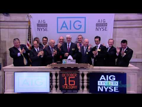 AIG Commemorates its Continued Progress and Showcases New Logo rings the NYSE Opening Bell