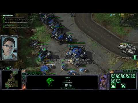 StarCraft II Wings of Liberty: The Evacuation brutal walkthrough