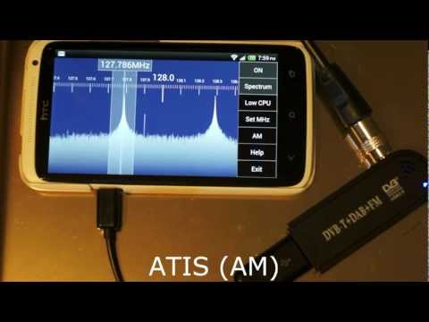 SDR Touch with RTL SDR (RTL2832), HTC One X, Android 4.1 Jellybean