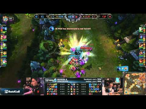 IEM Singapore Grand Final IG vs. CJ Entus Frost Game 1