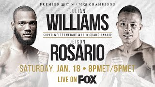 Williams vs Rosario PREVIEW: January 18, 2020 | PBC on FOX