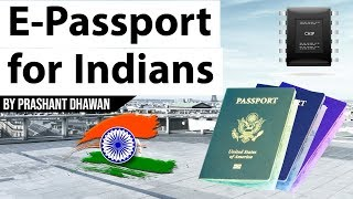 What is E-Passport? चिप बेस्ड e-Passport Current Affairs 2019