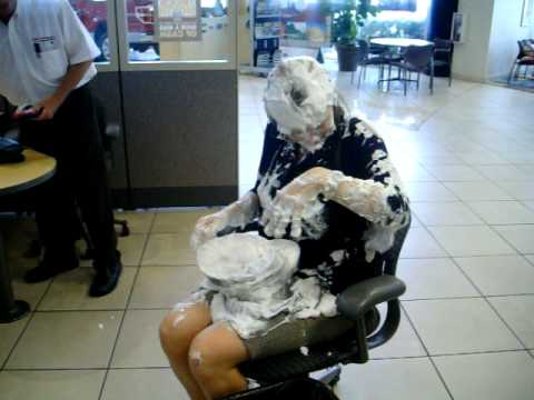 Girl (Tiffany Yeomans) Gets Pied For Her Birthday at a Car Dealership Funny