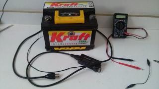 Carregando Bateria de Carro com Fonte Notebook de 18 a 24V. (carregador improvisado de carga lenta)