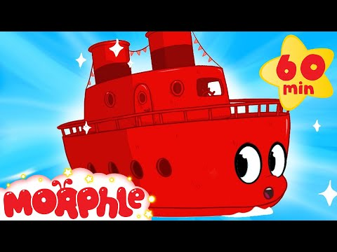 My Red Boat + 1 hour vehicle compilation of: Bulldozer, Firetruck, Digger,  My Magic Pet Morphle