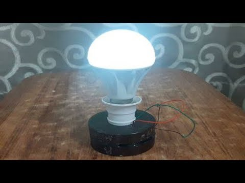 free energy electricity generator using Magnet and copper wire self running 12v light Bulb 2018 thumbnail