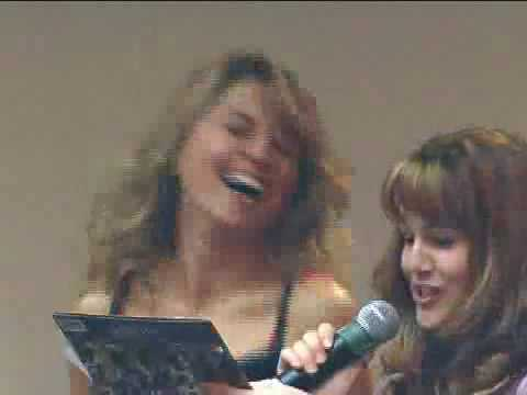 Lucy Lawless and Renee O'Connor Singing