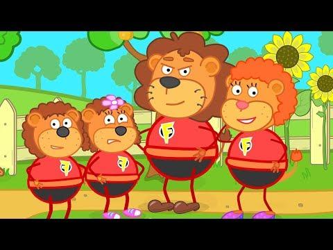 Lion Family Superhero Family Cartoon for Kids thumbnail