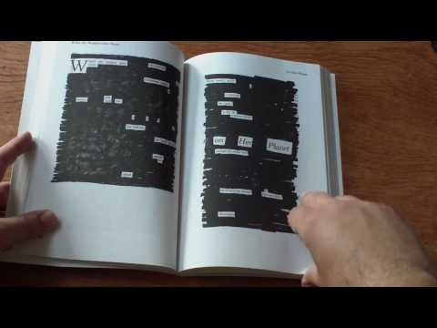 Newspaper Blackout Book Trailer