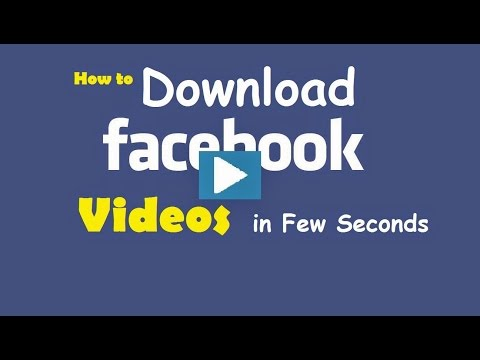 How to Download a Video from Facebook - YouTube