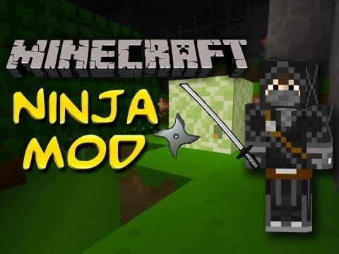 Minecraft Mods Showcase: Ninja Mod - Eat Sushi & Throw Shuriken (1.3.2)