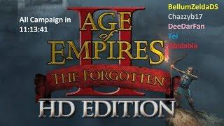Age of Empires 2 HD - The Forgotten All Campaign in 11:13:41 multi segments