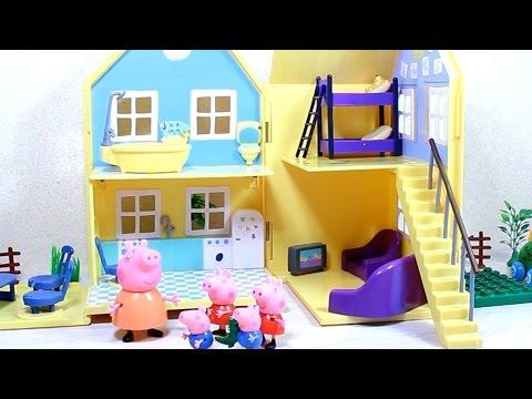 Загородный домик свинки Пеппы. Мультики для детей.