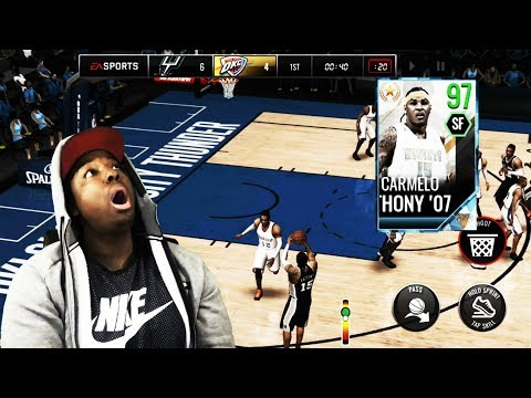 97 OVR ULTIMATE LEGEND CARMELO GAMEPLAY ON NBA LIVE MOBILE 18!!! HE IS A STRAIGHT UP MONSTER!!!