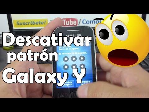 Solucion como Desactivar el patrón de desbloqueo samsung galaxy y S5360 español Full HD