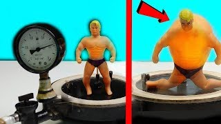 STRETCH ARMSTRONG IN VACUUM CHAMBER! THE BIG REVEAL!