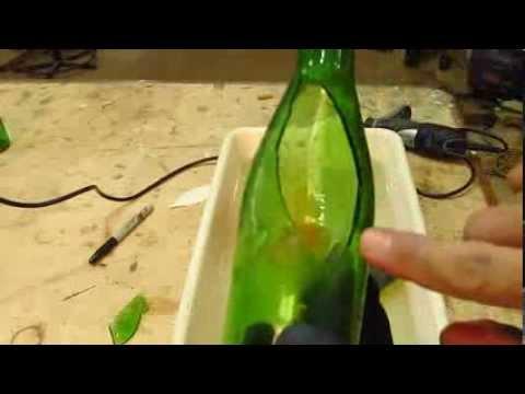 Recortes em garrafas com dremel