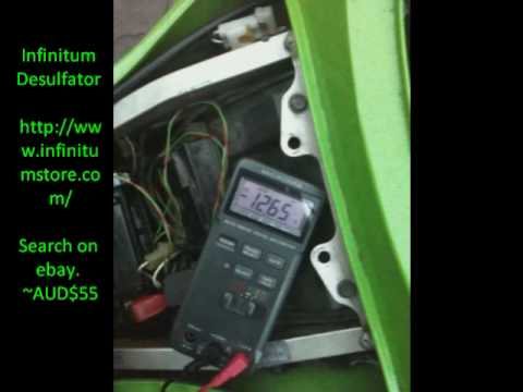 Fix dead lead acid motorcycle battery with infintium desulfator