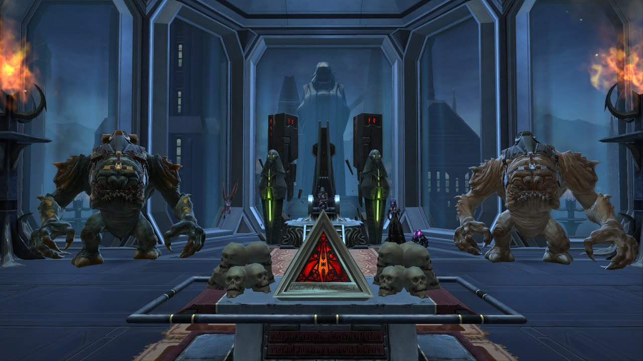 Swtor Tour Of My Decorated Dromund Kaas Stronghold Youtube