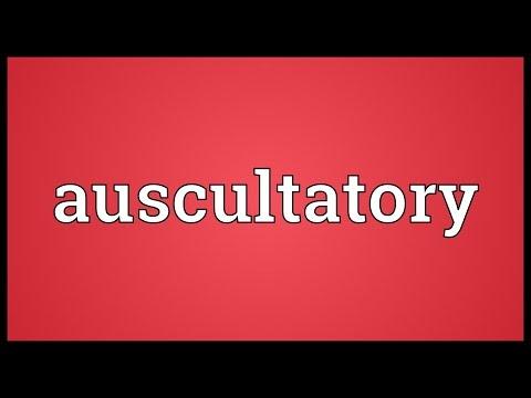 Header of auscultatory