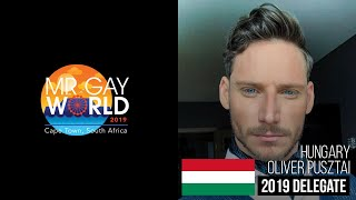 Mr Gay World 2019 Delegate - HUNGARY