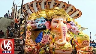 Arrangements Begin For Khairatabad Ganesh Immersion, Devotees Throng For Darshan