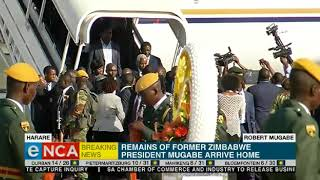Remains of Mugabe arrive in Harare