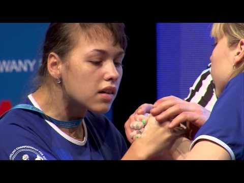 I World Armwrestling Championship for Disabled - junior18 women right arm2 50kg 1st