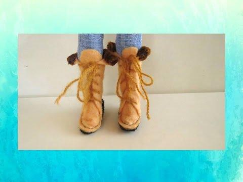 Как сделать обувь для куклы доллс своими руками 34