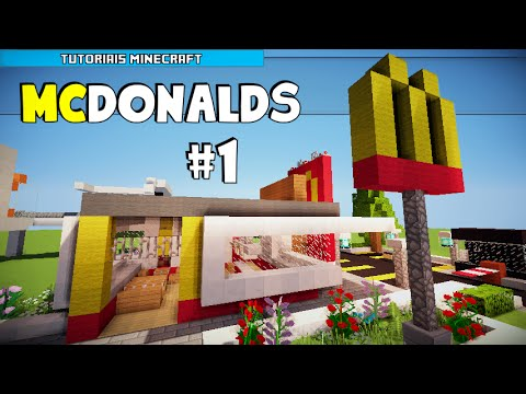 How To Build A Mcdonalds Sign In Minecraft