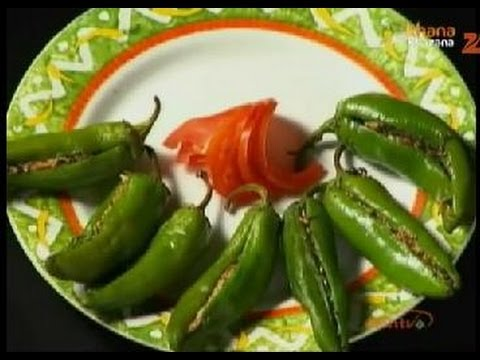 Khana Khazana - Stuffed Chillies