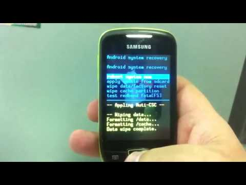 S5570 galaxy mini hard Reset