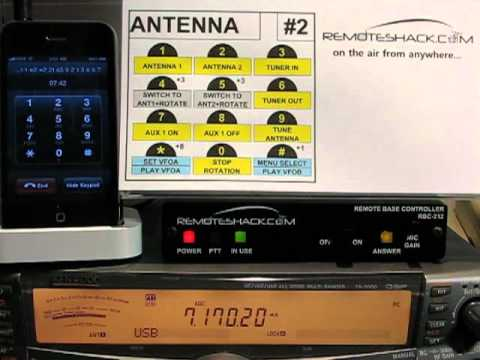 RemoteShack Menu #2-Antenna Commands