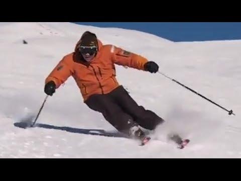 Уроки катания на горных лыжах - Карвинг на лыжах Основная лыжная стоика