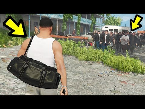 The BIGGEST Zombie Apocalypse EVER! (GTA 5)