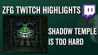 Shadow Temple Is Too Hard (OoT Randomizer) - ZFG Twitch Highlights
