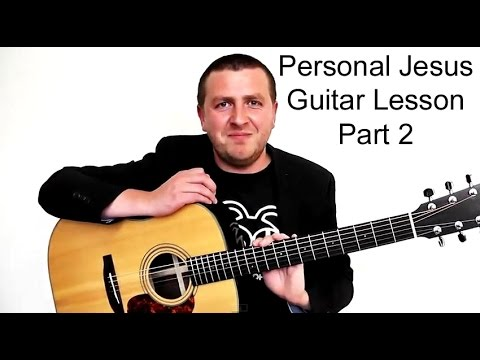 Johnny Cash - Personal Jesus - Guitar Lesson - Part 2 video