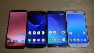 Samsung Galaxy S8 vs. Samsung Galaxy S7 vs. Samsung Galaxy S6 vs. Samsung Galaxy S5 - Speed Test!