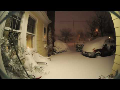 12 hour Time Lapse Winter Snow Storm