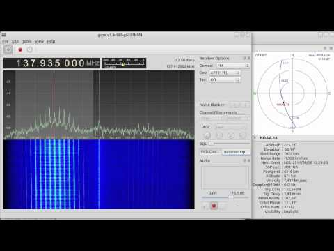 NOAA-18 reception with Funcube Dongle and Gqrx SDR