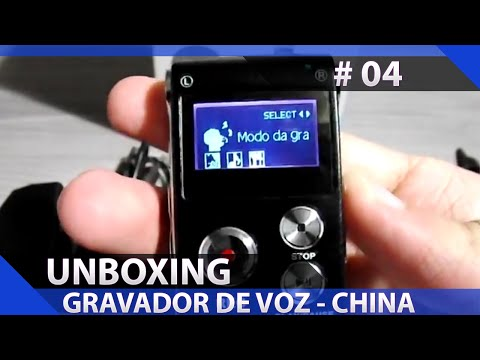 Unboxing/Review: Gravador de voz comprado miniinthebox