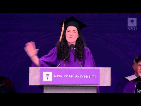 NYU's 2013 Commencement Exercises Student Speaker Chelsea Garbell