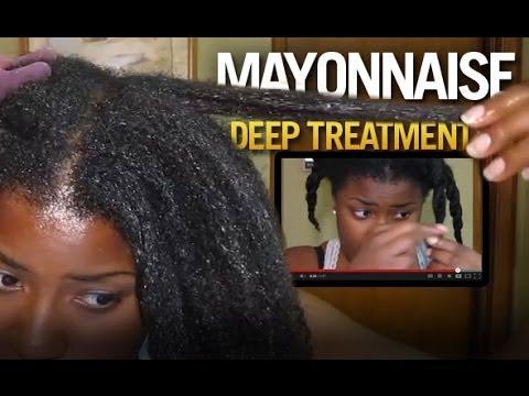 Mayonnaise Deep Treatment To Moisturize Black Natural Hair