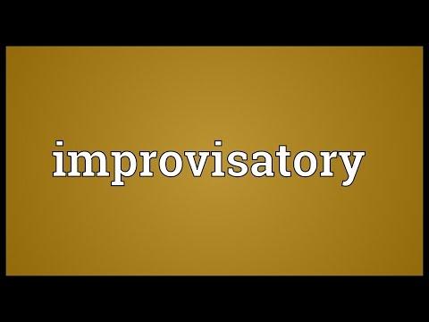 Header of improvisatory