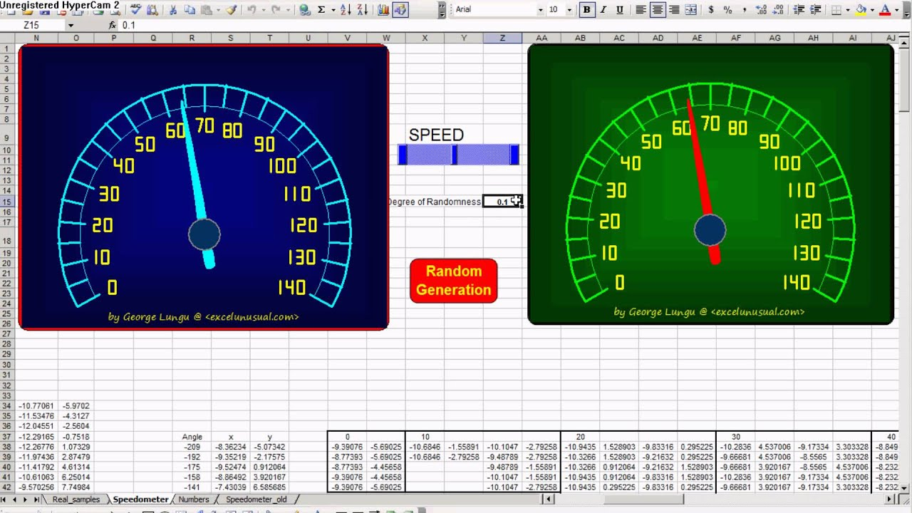 Speedometer excel for Excel speedometer template download